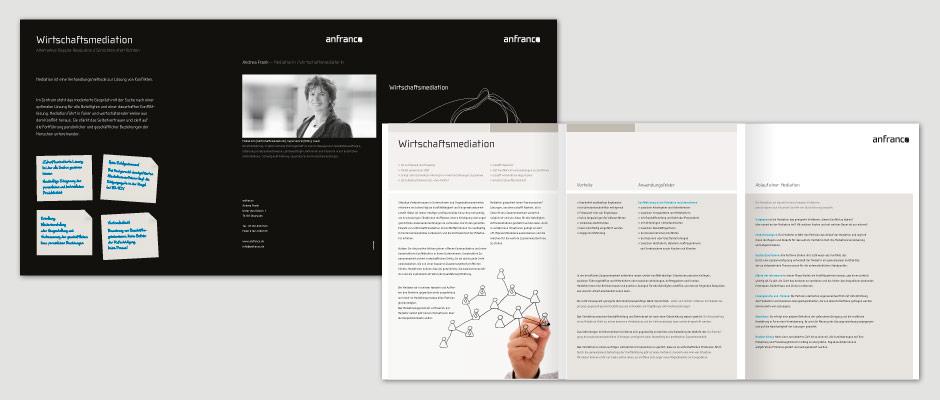 Broschürenserie - anfranco Wirtschaftsmediation