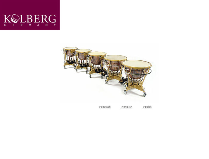 Kolberg Percussion Website - Produktkatalog, Datenbank
