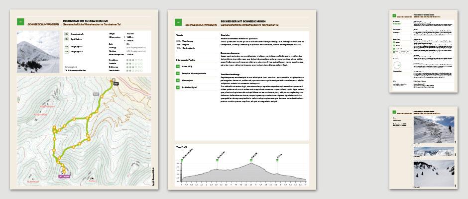 Tourendatenbank App Modell Information Architecture